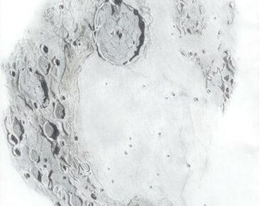Gassendi met Mare Humorum (Pastelpotlood)
